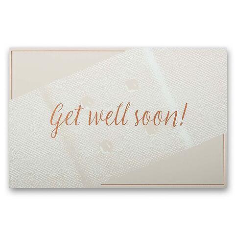 Grußkarte Get well soon Diplomat Pure sand