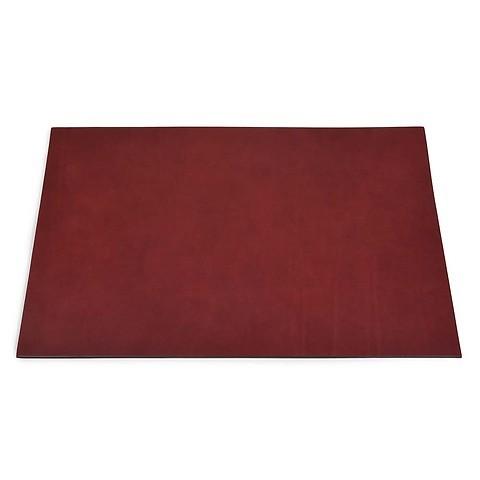 Schreibtischauflage Leder 60x40 cm bordeaux