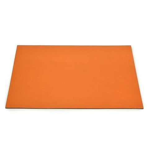 Schreibtischauflage Leder 60x40 cm orange