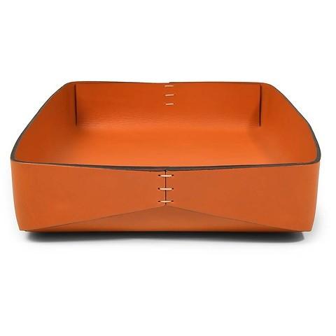 Ablagekasten Leder A4 Stitch orange/orange