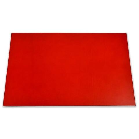 Schreibtischauflage Leder 60x40 cm rot