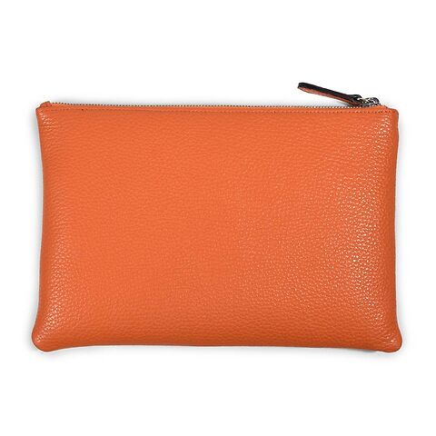 Zip Wallet Leder Adri 24x16 cm, orange