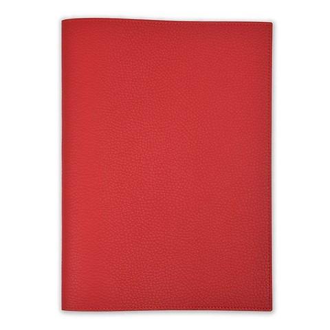 Buchhülle für DIN A4 Bücher Leder Lux rot