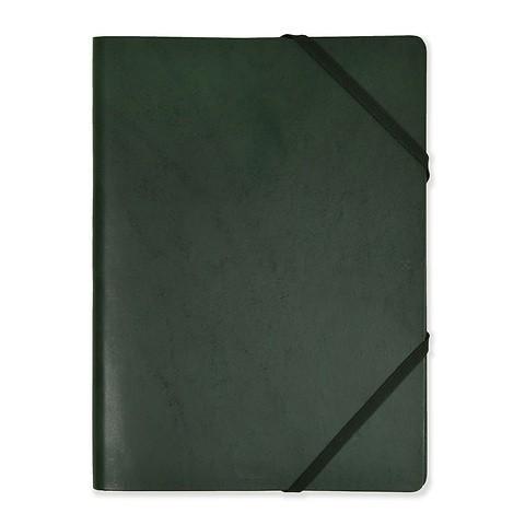 Legendär Dokumentenmappe HYDE A4 Leder dunkelgrün