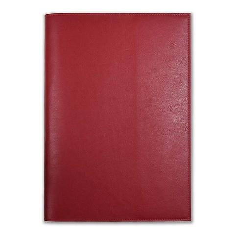 Buchhülle für DIN A4 Bücher Leder dunkelrot