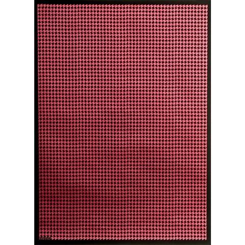 Bethge Geschenkpapier Hahnentritt rot 50 x 70 cm, 3 Bögen