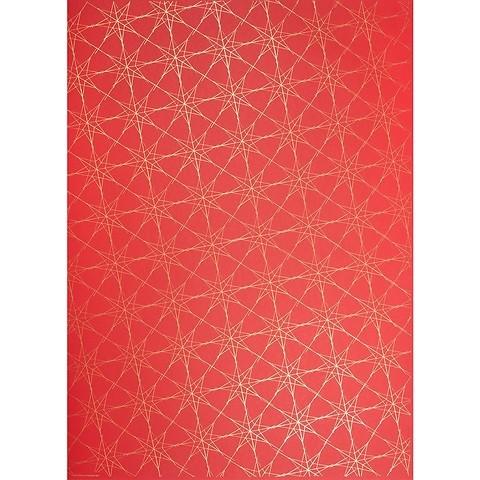 Bethge Geschenkpapier Starlines rot 50 x 70 cm, 3 Bögen