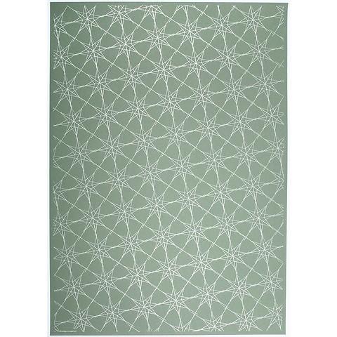 Bethge Geschenkpapier Starlines grün 50 x 70 cm, 3 Bögen