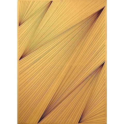Bethge Geschenkpapier Lines gold 50 x 70 cm, 3 Bögen