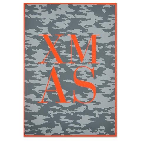 Weihnachtskarte X-Mas Camouflage Klappkarte A4