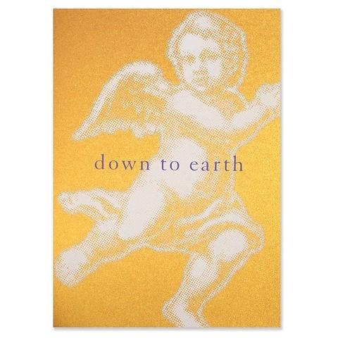 Weihnachtskarte Down to earth Klappkarte A5 gold/orange