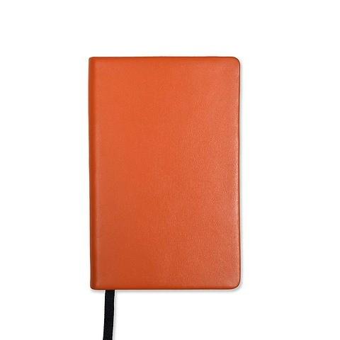 Treuleben Notizbuch Journal S Leder blanco orange/mandarino