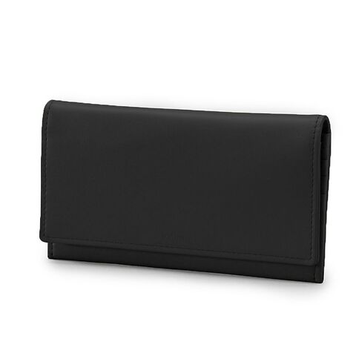 Treuleben Portemonnaie Leder Wallis 19x10 cm; schwarz/nero