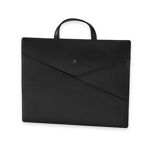 Treuleben Slender Bag 40x32 cm Leder, schwarz/nero