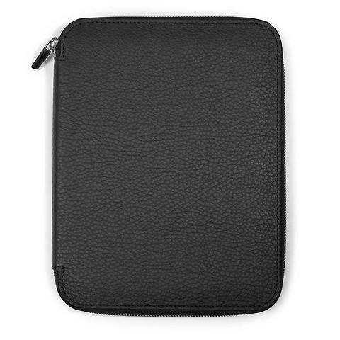 Schreibmappe A4 Zip, Leder Lux; schwarz