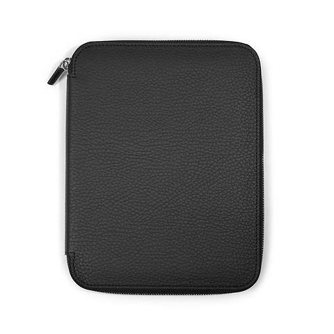 Schreibmappe A5, Zip, Leder Lux; schwarz