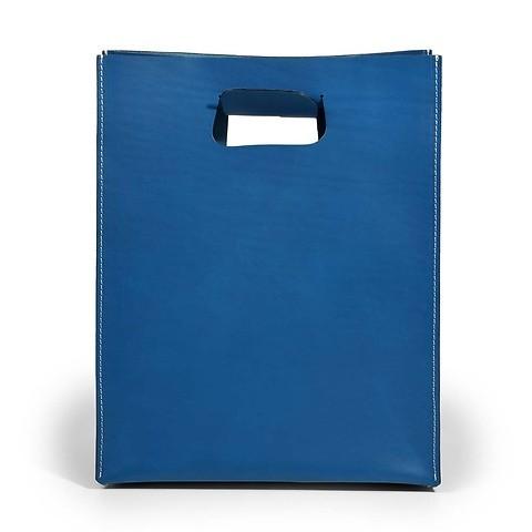 Tasche 'Carrier Bag' Leder, blau