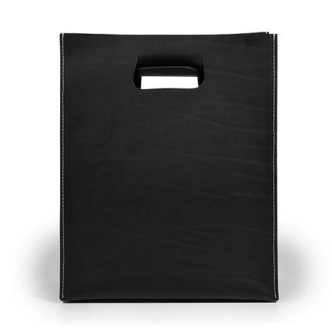 Tasche 'Carrier Bag' Leder, schwarz