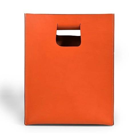 Tasche 'Carrier Bag' Leder, orange