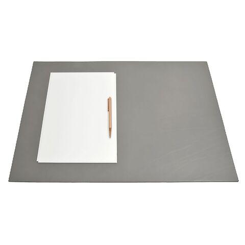 Schreibtischauflage Leder 60x40 cm grau