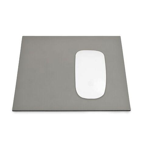 Mousepad Leder 28x25 cm grau