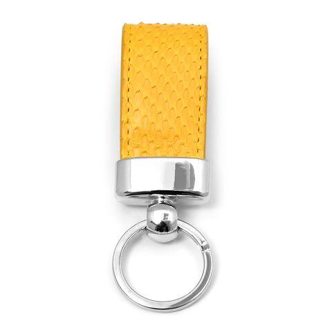 Schlüsselanhänger Leder Python gelb