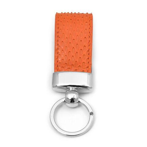 Schlüsselanhänger Leder Python orange