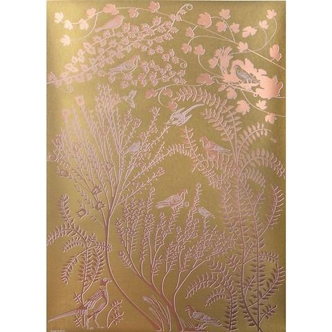 Bethge Geschenkpapier Paradise gold 50 x 70 cm, 3 Bögen