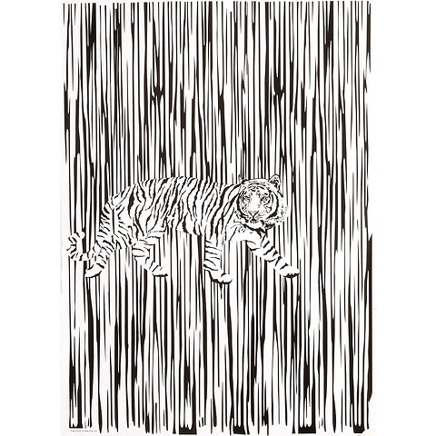 Bethge Geschenkpapier Tiger schw.-weiß 50 x 70 cm, 3 Bögen