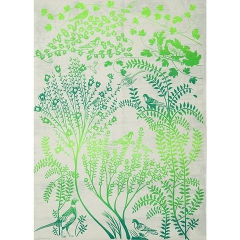 Bethge Geschenkpapier Silk grün 50 x 70 cm, 3 Bögen