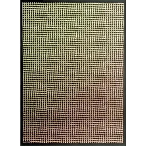 Bethge Geschenkpapier Hahnentritt grün 50 x 70 cm, 3 Bögen
