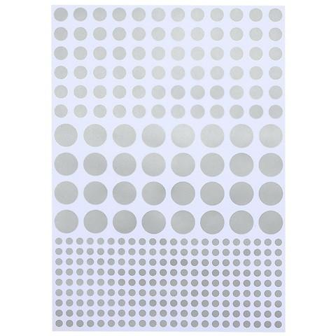 Bethge Geschenkpapier Dots silber blau 50 x 70 cm, 3 Bögen