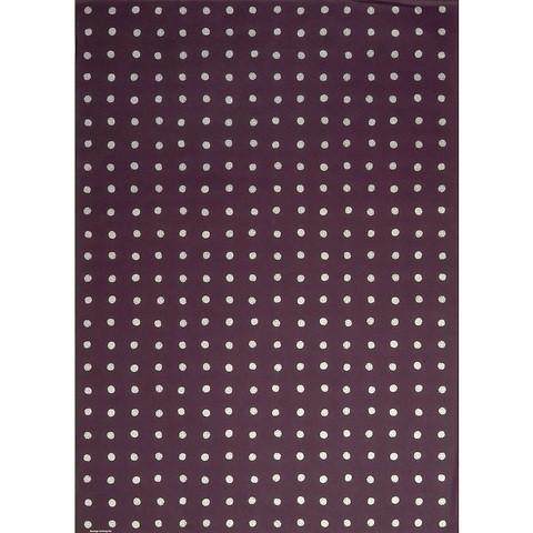 Bethge Geschenkpapier Dots aubergine 50 x 70 cm, 3 Bögen