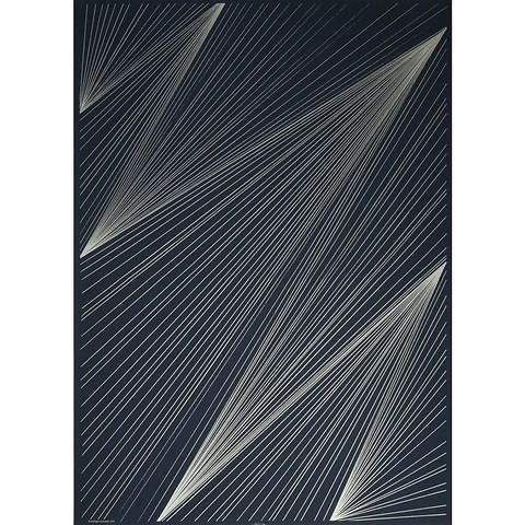 Bethge Geschenkpapier Lines dunkelblau 50 x 70 cm, 3 Bögen