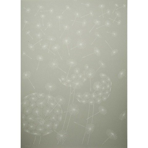 Bethge Geschenkpapier Pusteblume grau 50 x 70 cm, 3 Bögen