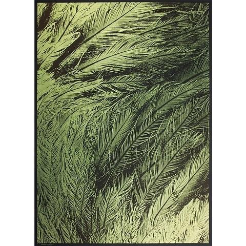 Bethge Geschenkpapier Pfauenfeder grün 50 x 70 cm, 3 Bögen
