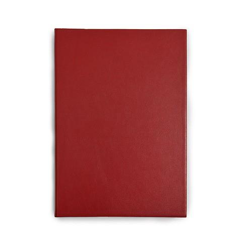 Notizbuch A5 Leder blanko dunkelrot