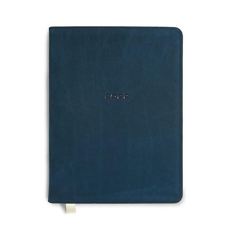 Kalender 1Woche/Notes 2022 Leder Bull, indigo