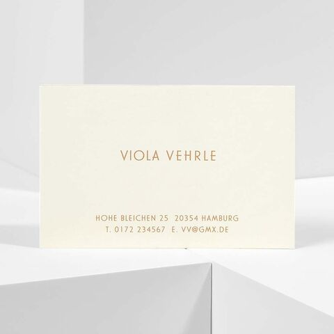 Bethge Visitenkarten 'Viola Vehrle'