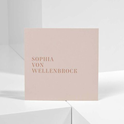 Bethge Visitenkarten 'Sophia von Wellenbrock'
