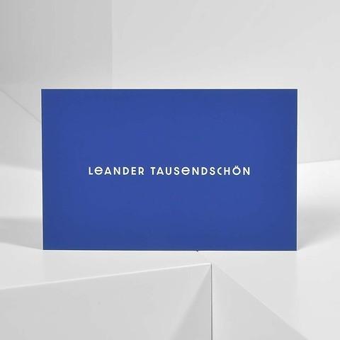 Bethge Visitenkarten 'Leander Tausendschön'