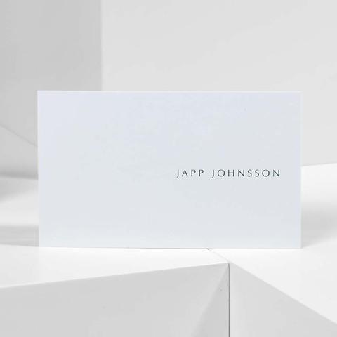 Bethge Visitenkarten 'Japp Johnson'