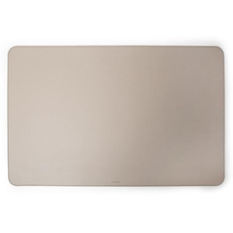 Schreibtischauflage Leder 61x39 cm taupe