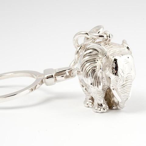 Schlüsselkette Elefant Sterlingsilber