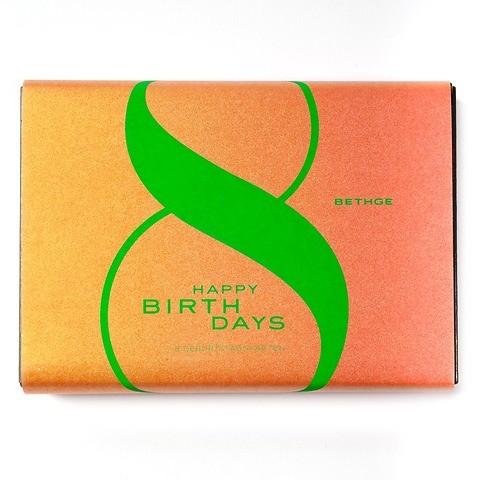 Giftbox HAPPY BIRTHDAYS Diplomat mit 8 Karten + Umschläge