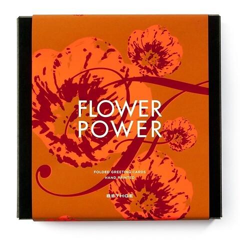 Giftbox FLOWER POWER mit 8 Blumenkarten + Umschläge