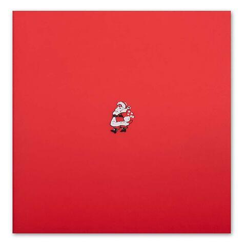 Weihnachtskarte Little Santa rot quadratisch