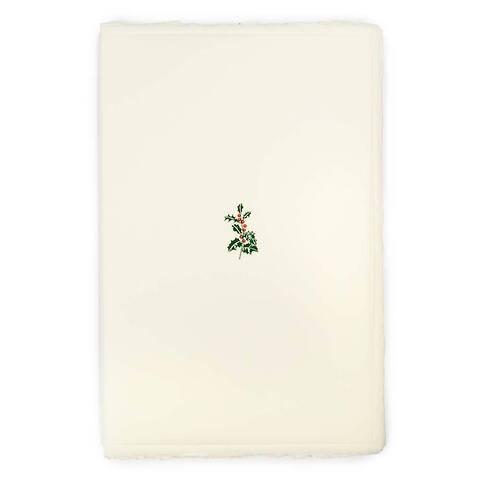 Weihnachtskarte Ilex Büttengruß Diplomat