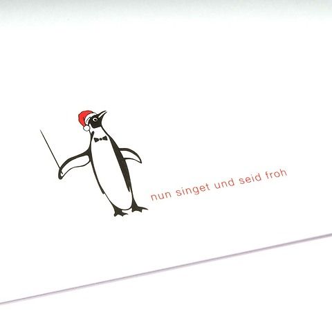 Weihnachtskarte Christmas Pinguin