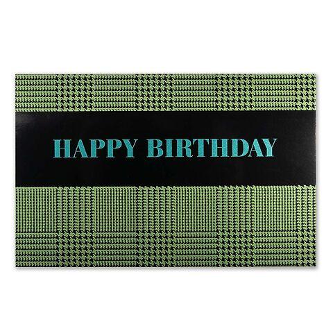 Grußkarte Geburtstag Glenncheck Diplomat